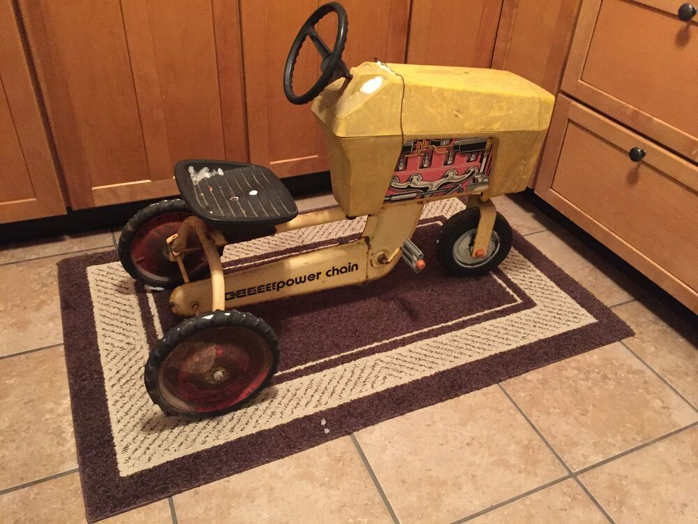 Drive Chain Tractor : Power chain drive pedal riding toy tractor yellow ebay