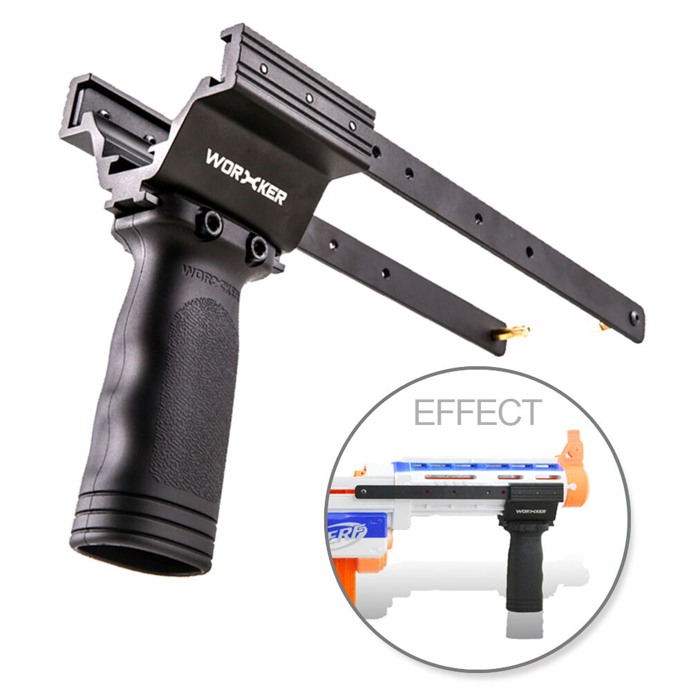 Worker MOD Pump Kit Vertical Grip Anodized Alloy For Nerf