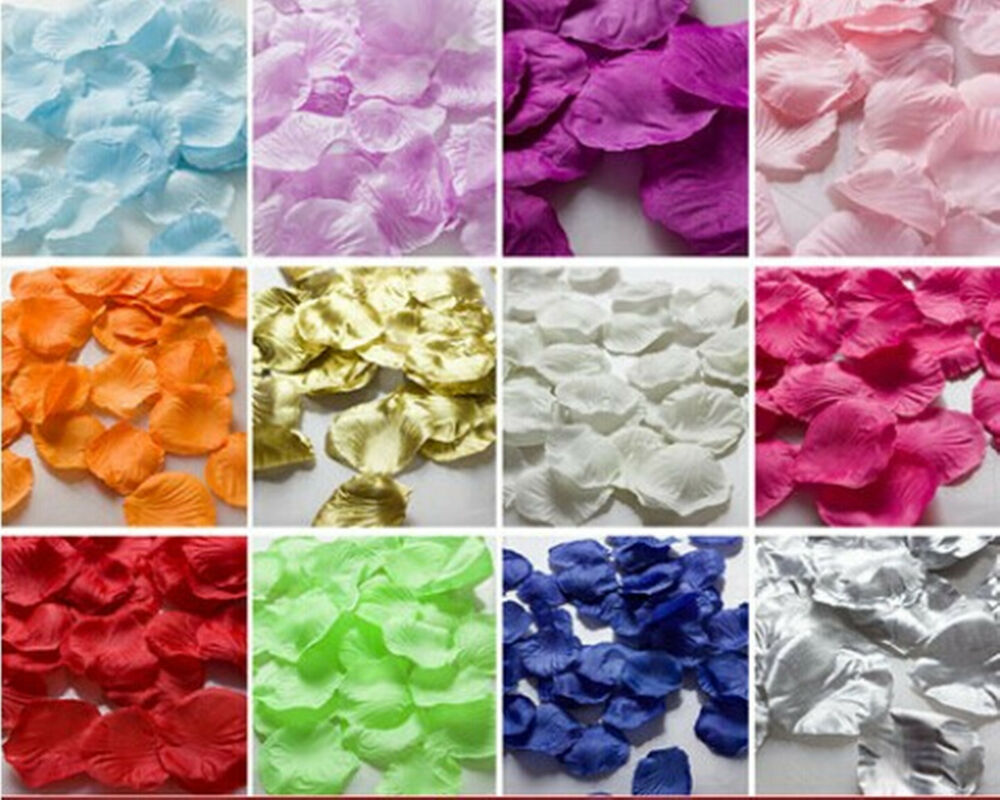 New 1000pcs silk rose flower petals for wedding party for Artificial flower for wedding decoration