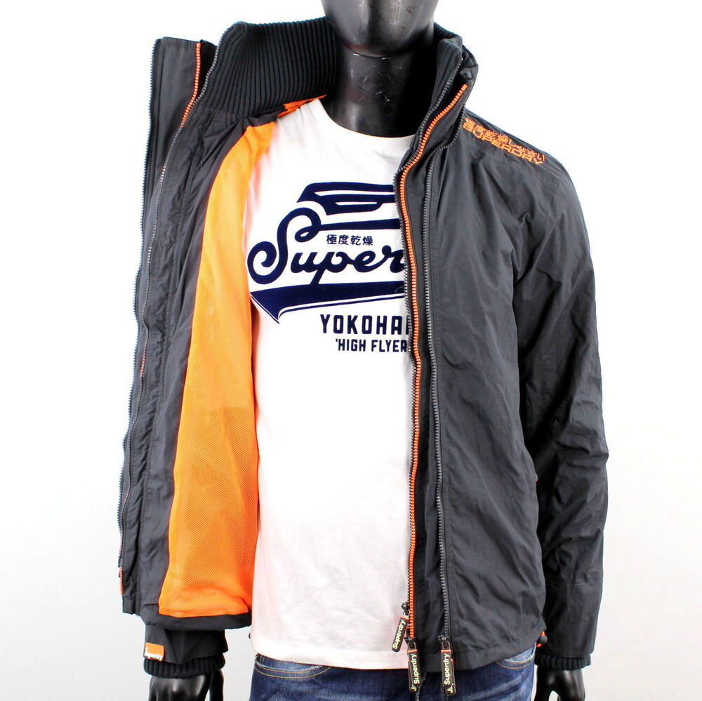 superdry herren pop zip technical windcheater jacke netz. Black Bedroom Furniture Sets. Home Design Ideas