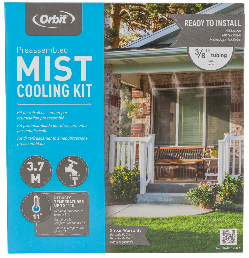 Orbit Misting System : Orbit outdoor mist kit cooling misting system m length