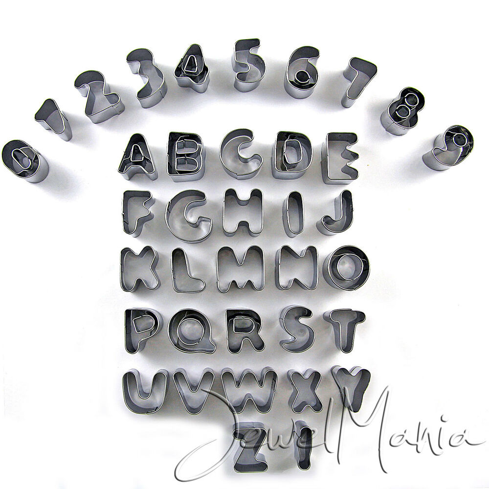 37 Piece Alphabet Letter Number Cake Decorating Set ...