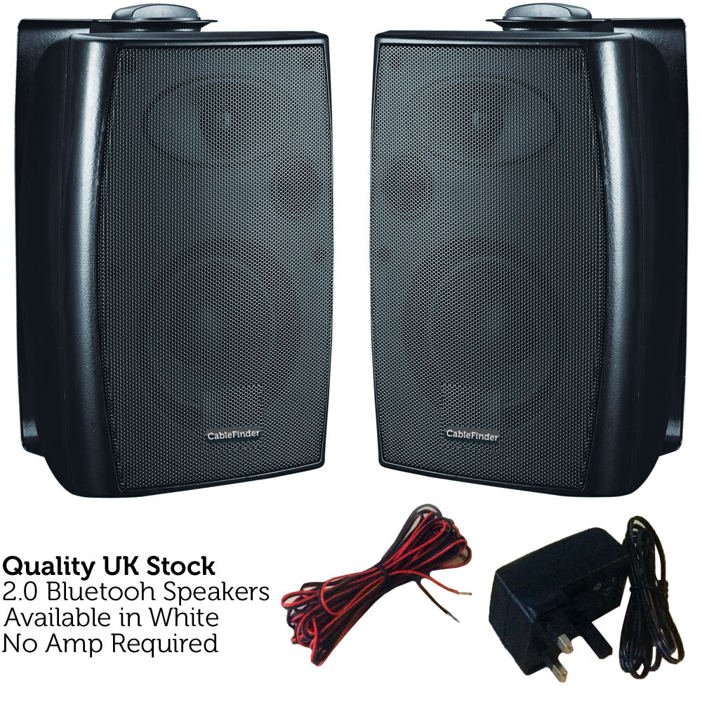 120w Bluetooth Active Speaker System Black Stereo Wall