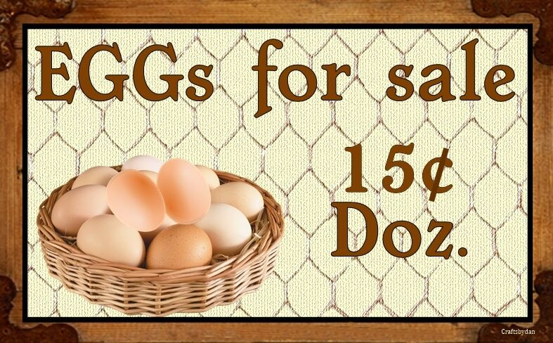Eggs For Sale WALL DECOR RUSTIC COUNTRY PRIMITIVE
