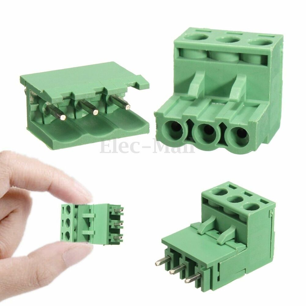Pcs mm pitch pin plug in screw pcb terminal block