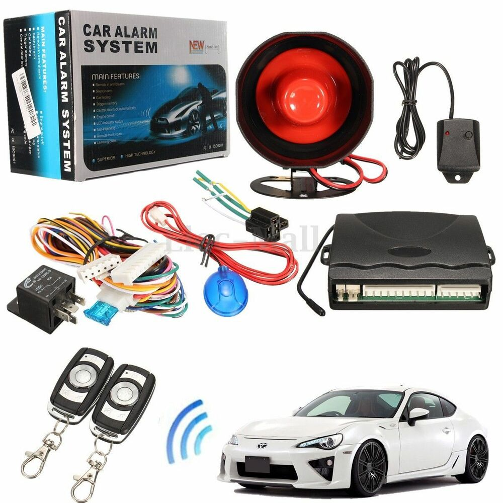 Vehicle Security Systems : Way car vehicle alarm protection security system keyless