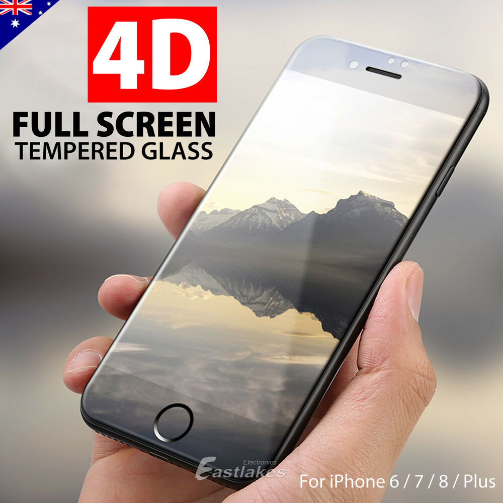 4d Full Cover Tempered Glass Screen Protector For Apple Iphone 8 7 Plus Clear 3d Premium Pro 6s 6 Ebay