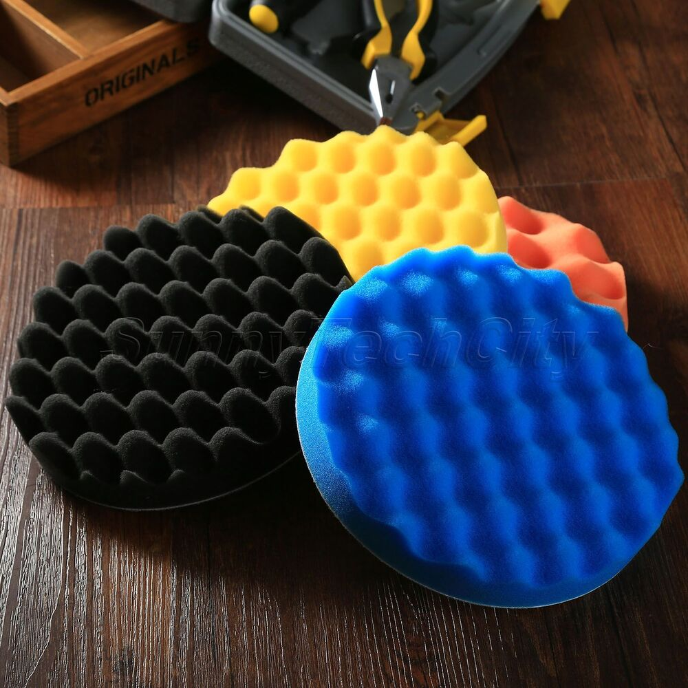 "4x 7"" Inch Car Buffing Pads Polishing Sponge Foam Polisher"