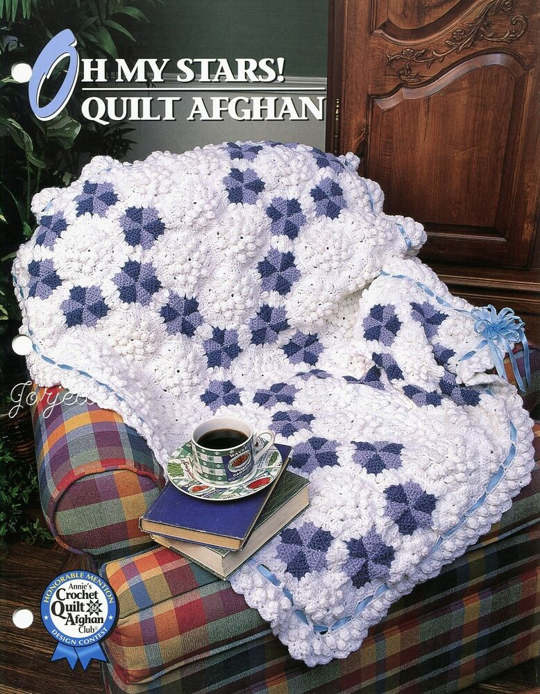Oh My Stars Quilt Afghan, Annies crochet pattern eBay
