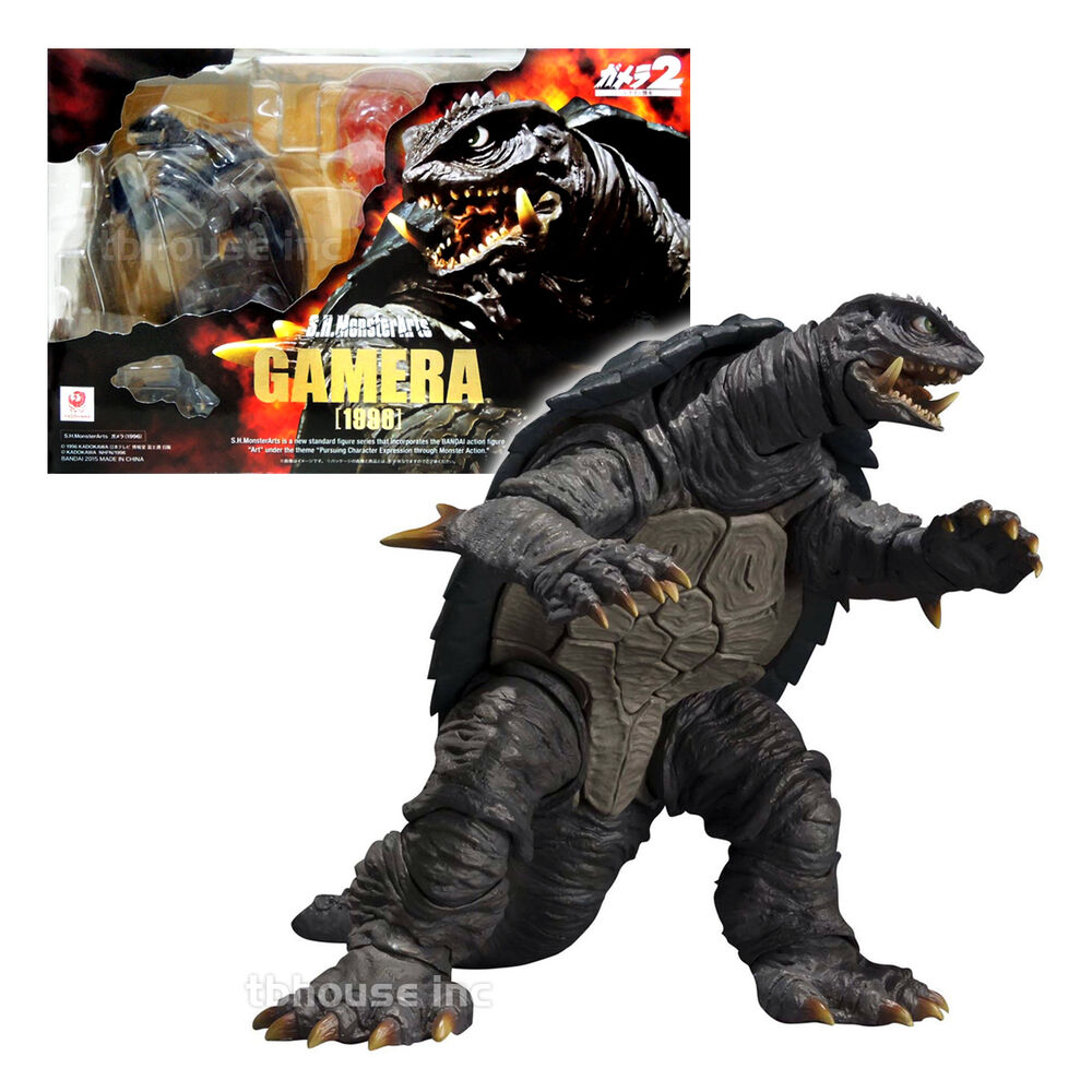 5 5 1996 gamera 2 figure s h monsterarts advent attack of. Black Bedroom Furniture Sets. Home Design Ideas