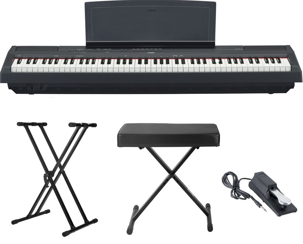 Yamaha p 115 88 key digital piano black with stand pedal for Yamaha p 115 88 key digital piano