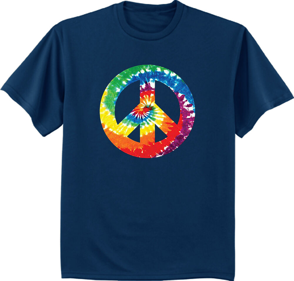 Men 39 s big and tall t shirt tie dye peace sign shirt big for Tahari t shirt mens