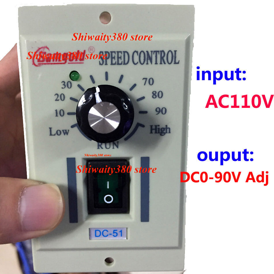 400w ac 110v knob motor speed controller dc 0 90v variable for Speed control electric motor