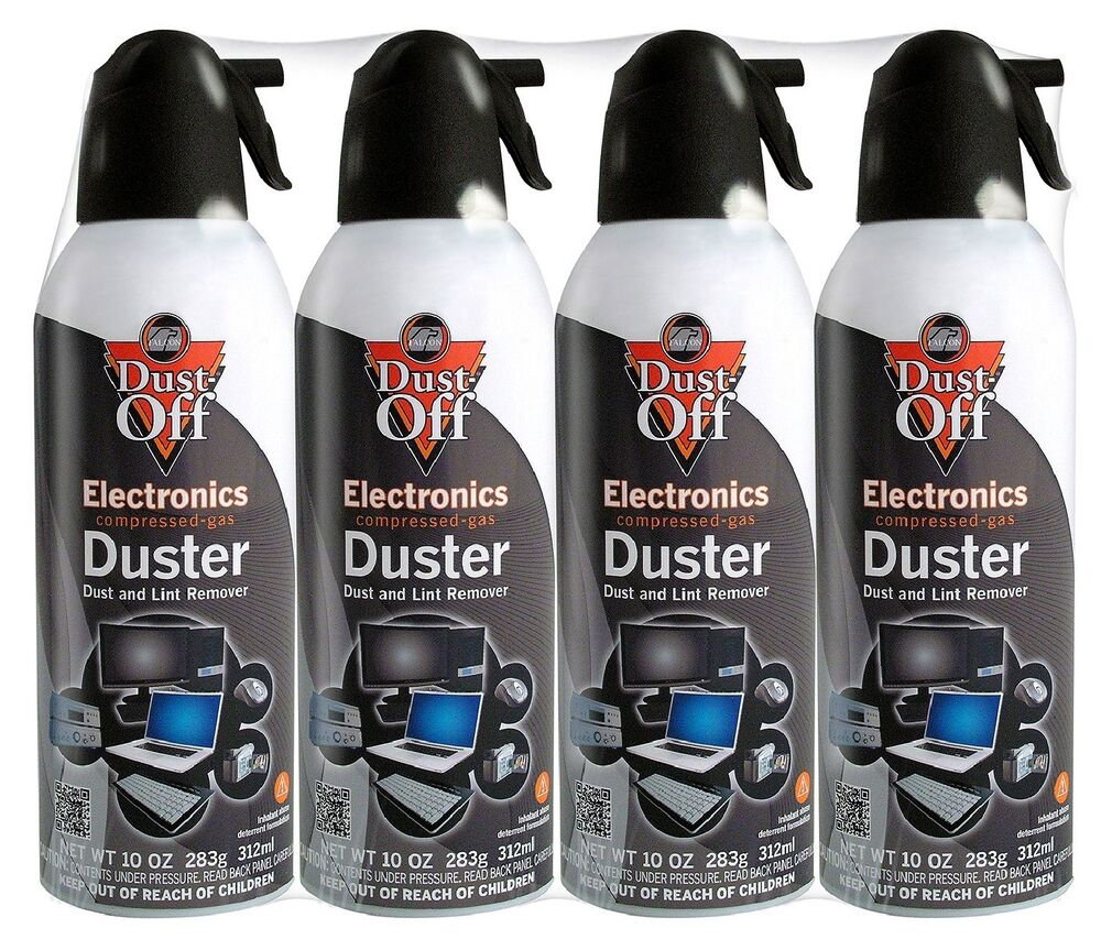 4 pk falcon compressed air gas duster cans computer dust off 10oz keyboard new ebay. Black Bedroom Furniture Sets. Home Design Ideas