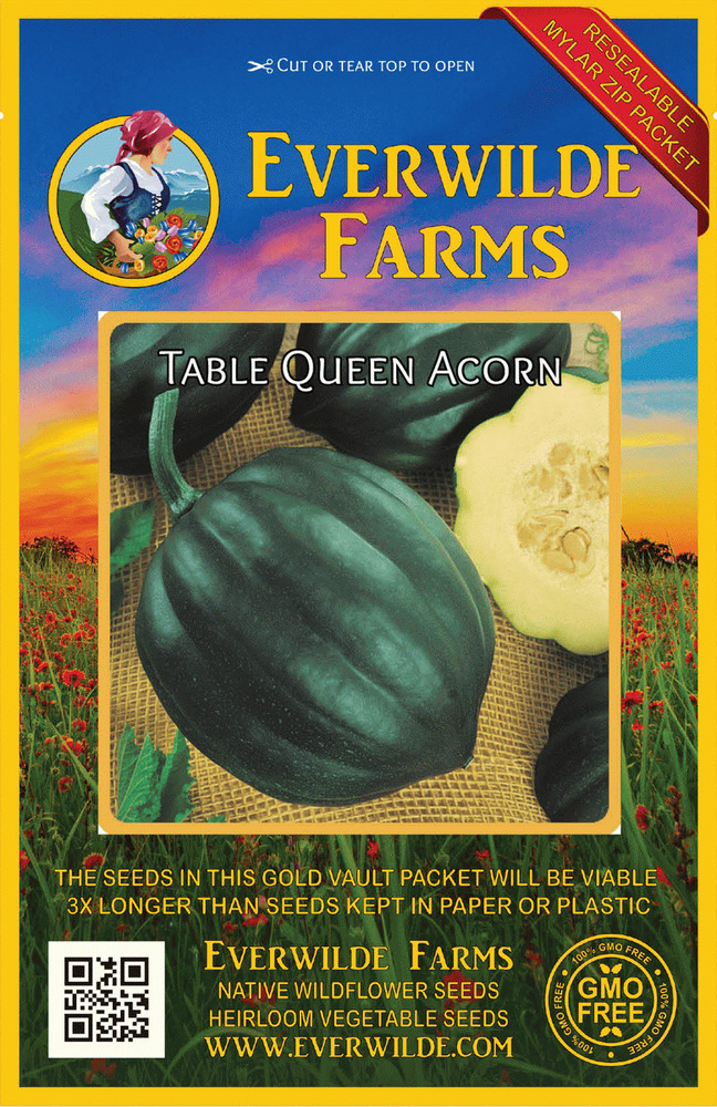 40 table queen acorn winter squash seeds gold vault for Table queen squash