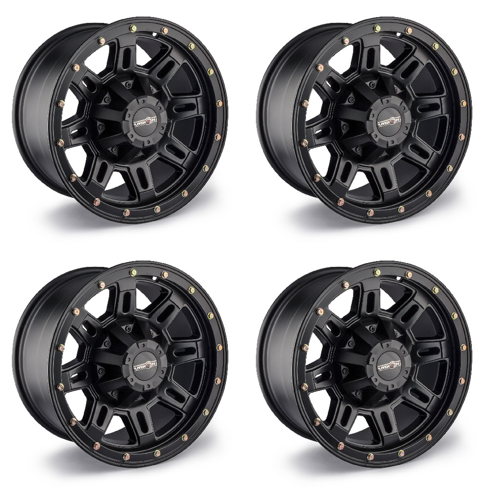 Set Of 4 17 Quot Vision 400 Incline Black Wheels 17x9 8x170mm