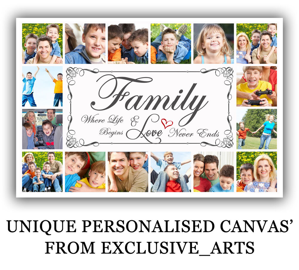 photo picture montage collage family gift framed personalised inch