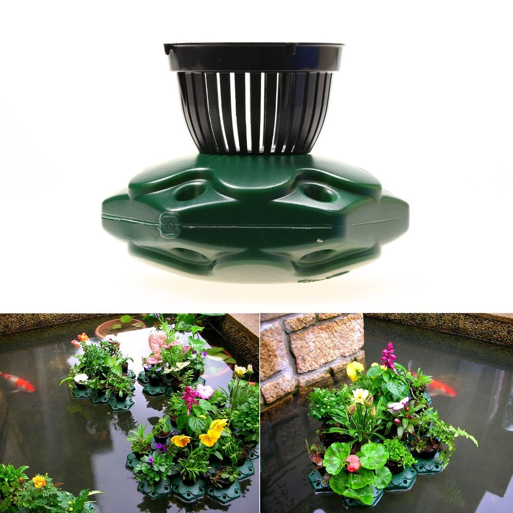 Aquaponics floating pond planter basket kit hydroponic for Hydroponics in koi pond