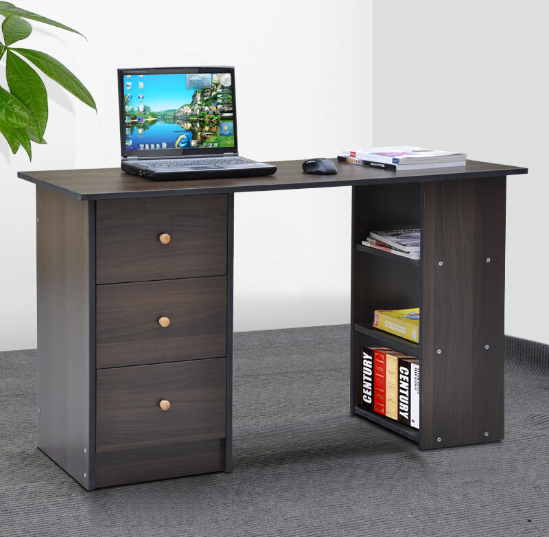 3 Drawer Computer Desk Executive Office Workstation Study