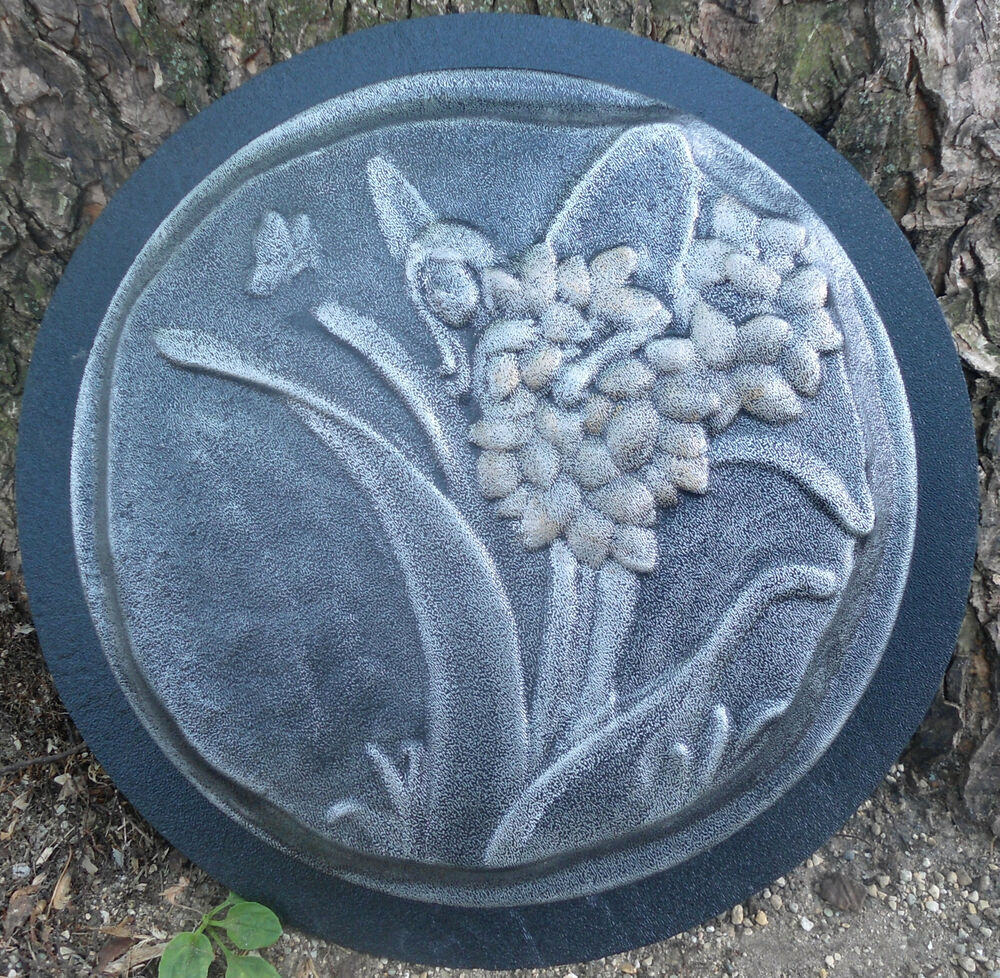 Garden Cement Molds: Plastic Fairy Stepping Stone Mold Concrete Plaster Casting