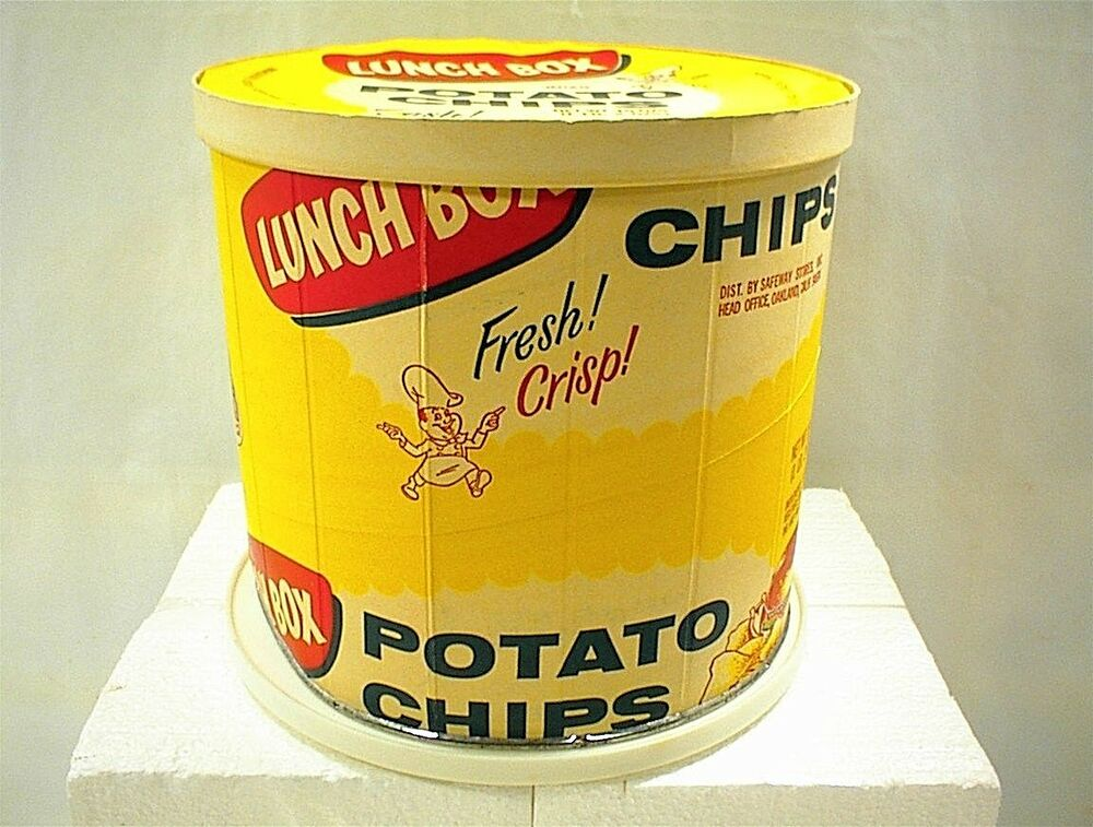 vintage lunch box potato chips can paper box tub tube. Black Bedroom Furniture Sets. Home Design Ideas