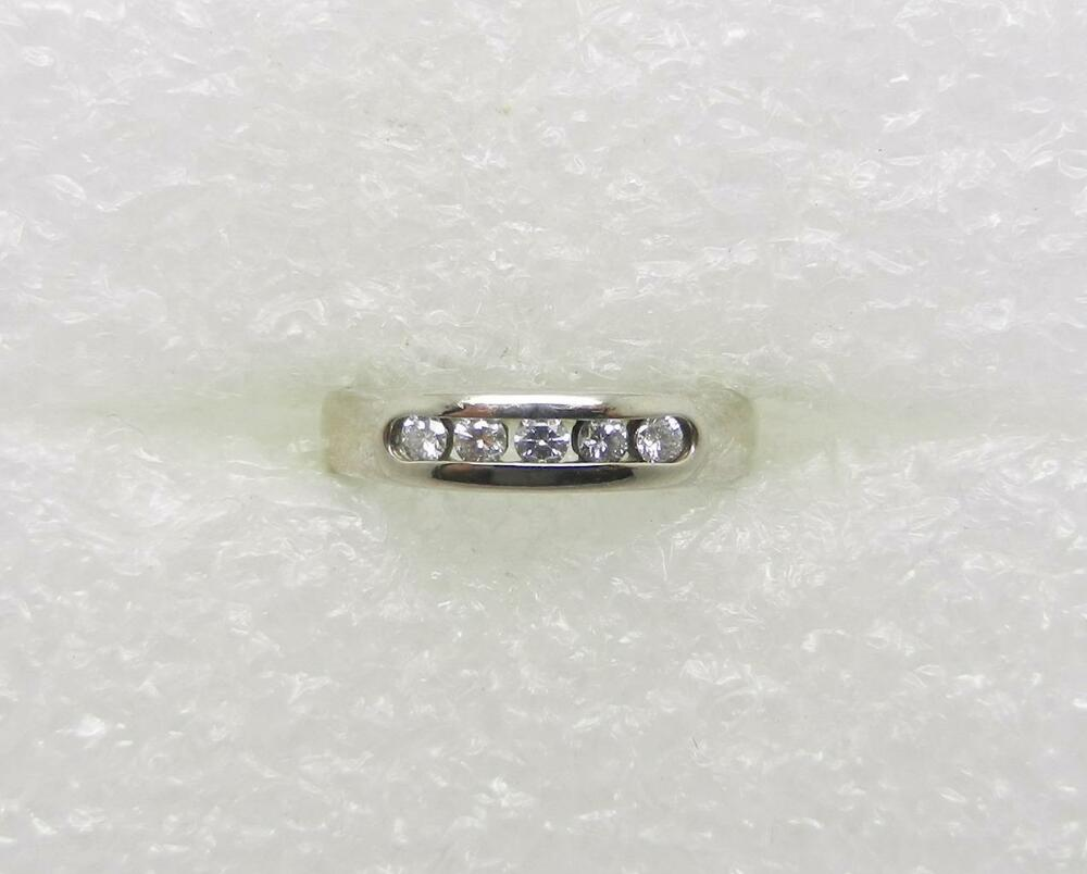bn james avery wedding bands JAMES AVERY 18K PALLADIUM WHITE GOLD DIAMOND DEBRA RING SIZE 4 75 LB