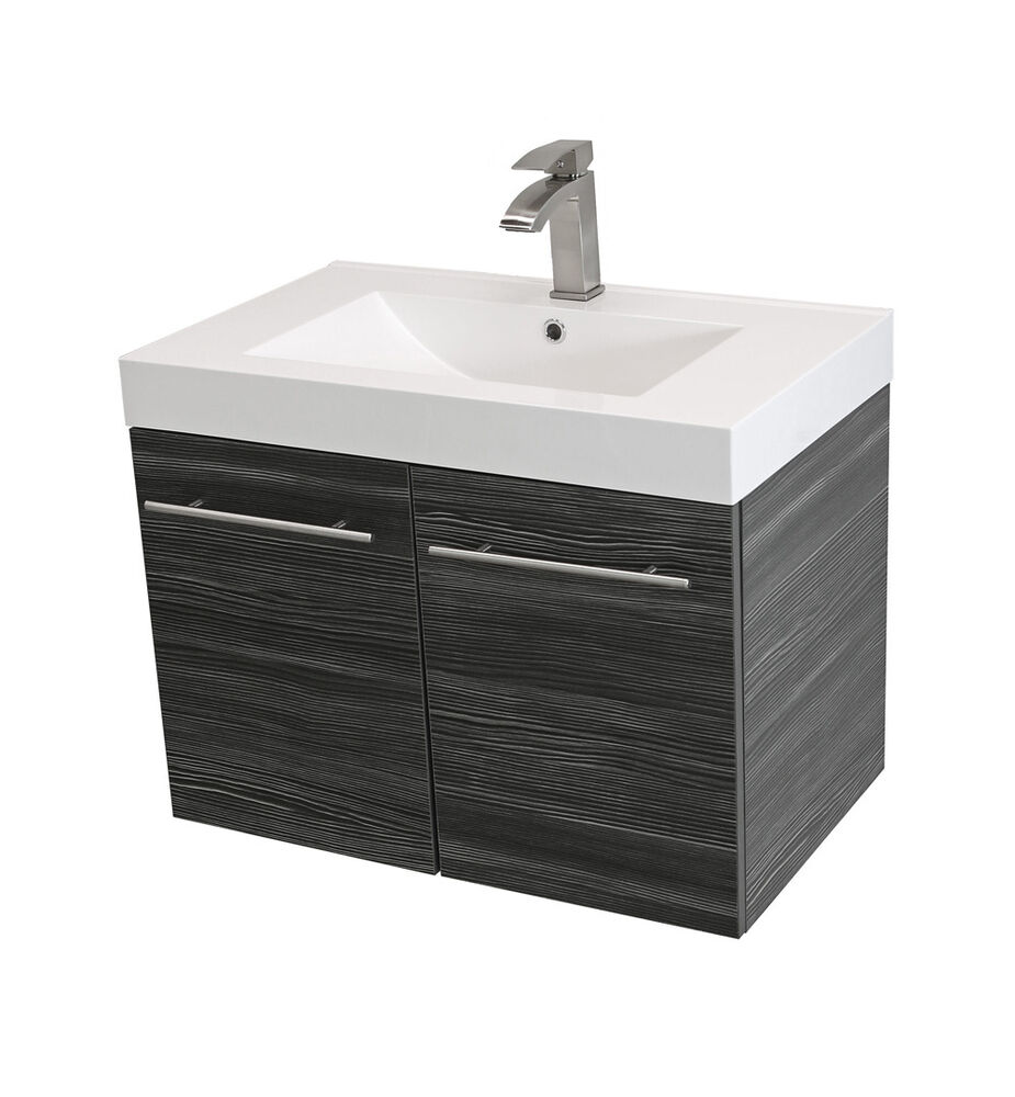 windbay 24 wall mount powder bathroom vanity sink set vanities sink 18 depth ebay. Black Bedroom Furniture Sets. Home Design Ideas