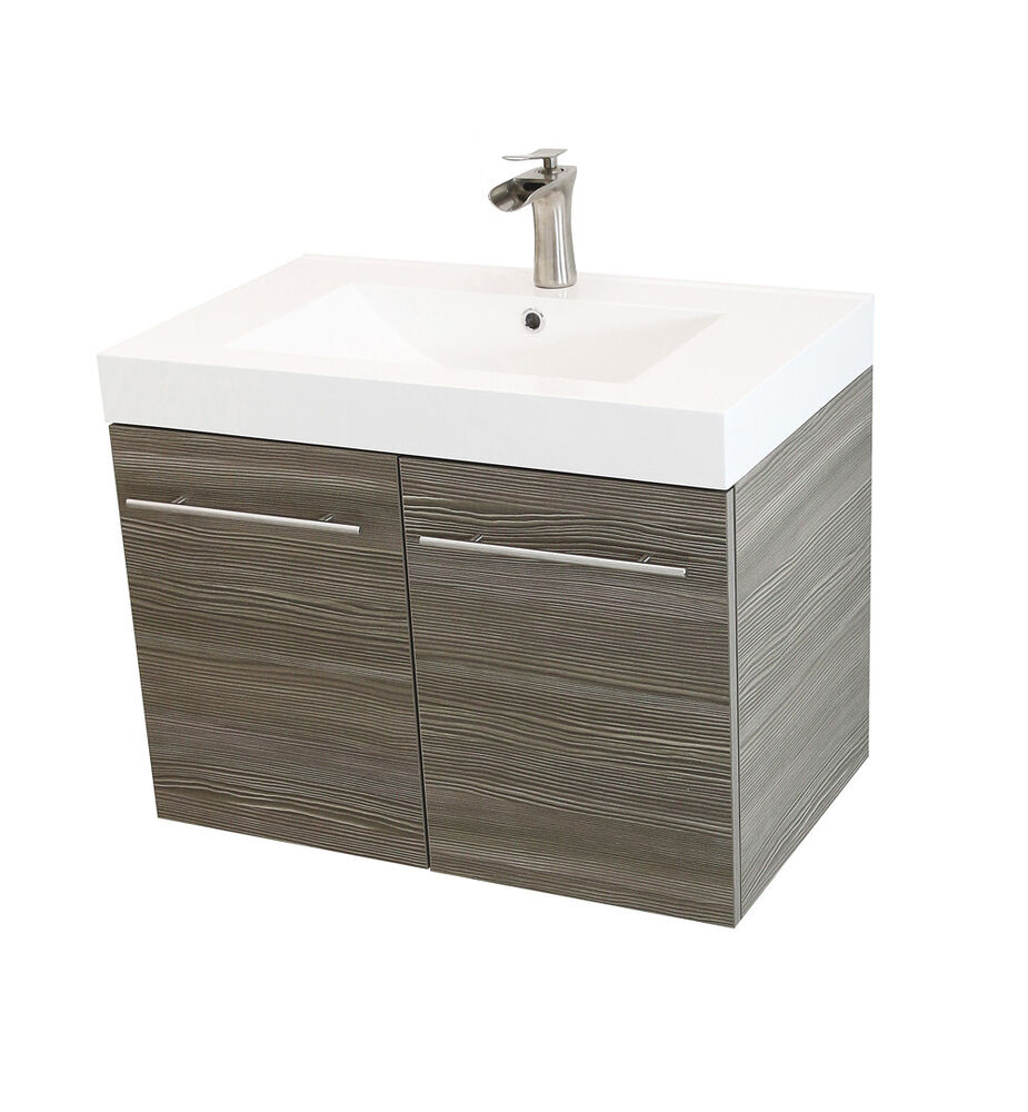 Windbay 36 Quot Wall Mount Powder Bathroom Vanity Sink Set