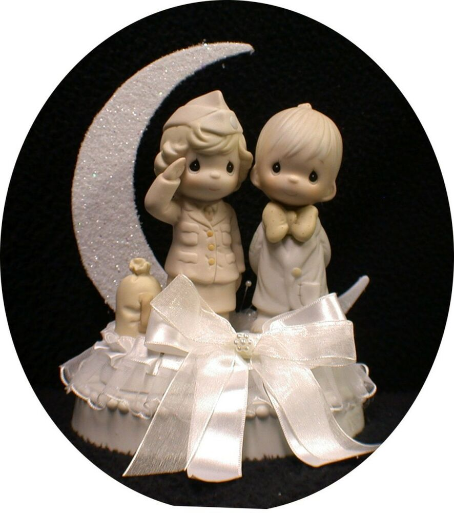 wedding cake toppers military navy precious moments soldier officer wedding 26540
