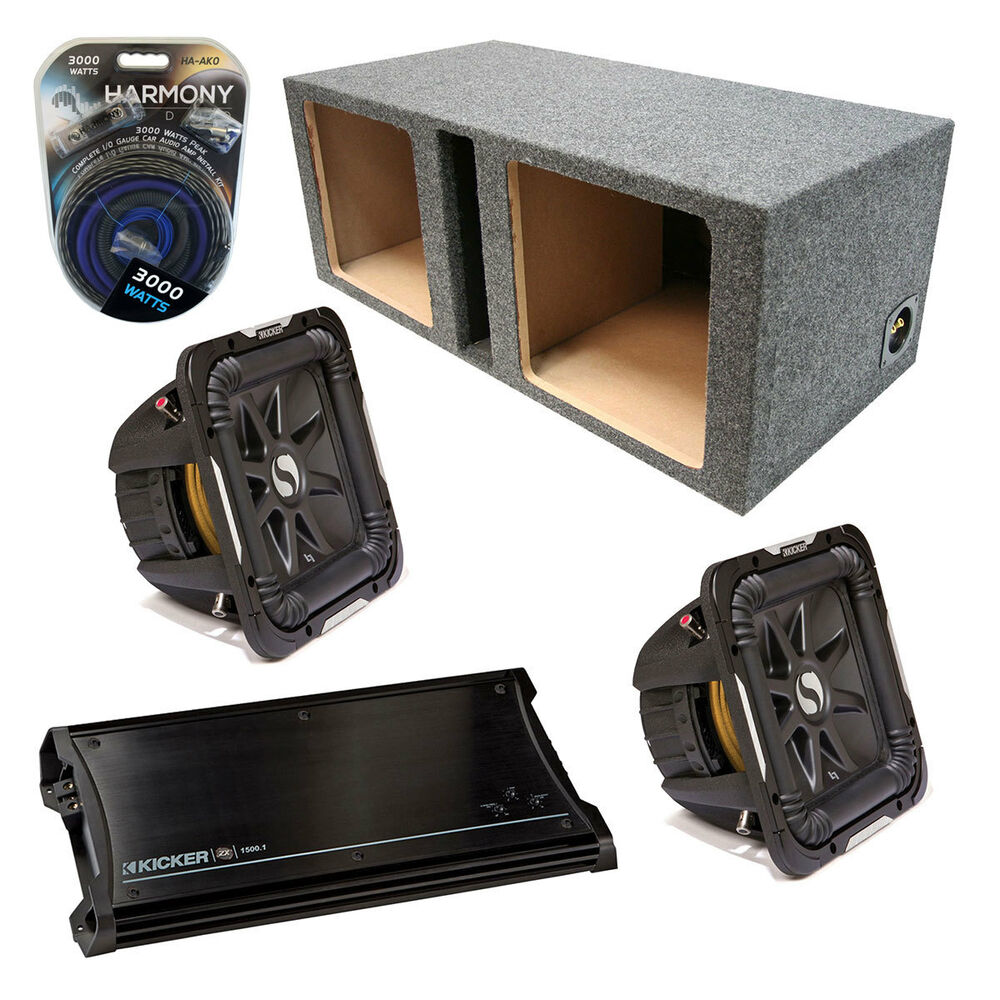 Kicker car audio dual 10 s10l7 l7 square ported speaker for L ported speaker box