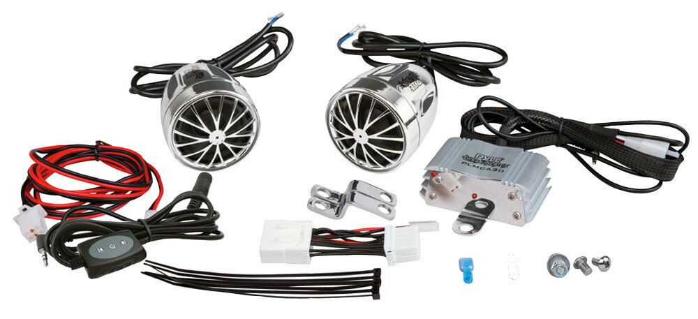 Wiring Harness Kit For Motorcycles : Pyle plmca bt complete bluetooth motorcycle speaker kit