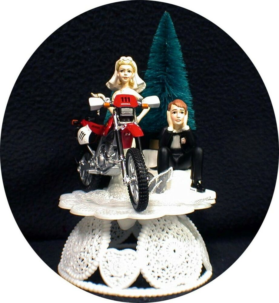 dirt bike wedding cake toppers road dirt bike motorcycle wedding cake topper 13535
