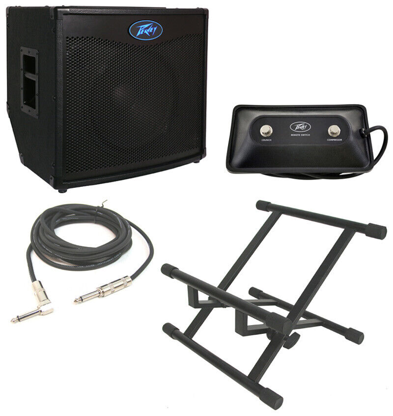 peavey tnt115 bass guitar combo 600w amp 15 speaker w footswitch cable stand 14367137224 ebay. Black Bedroom Furniture Sets. Home Design Ideas