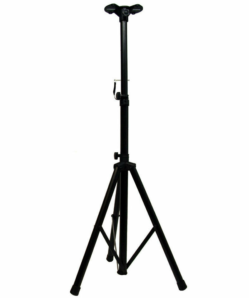pro audio dj heavy duty single tripod pa speaker stand w speaker pole adapter ebay. Black Bedroom Furniture Sets. Home Design Ideas