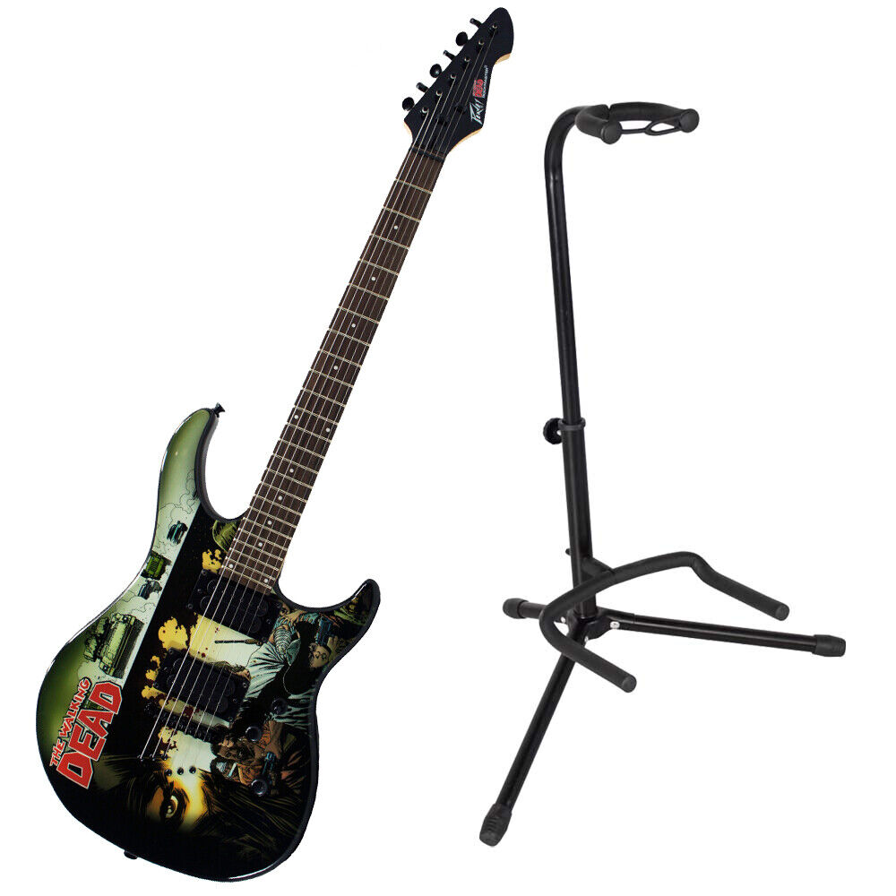 peavey the walking dead wrap cover predator electric guitar w instrument stand 14367628784 ebay. Black Bedroom Furniture Sets. Home Design Ideas