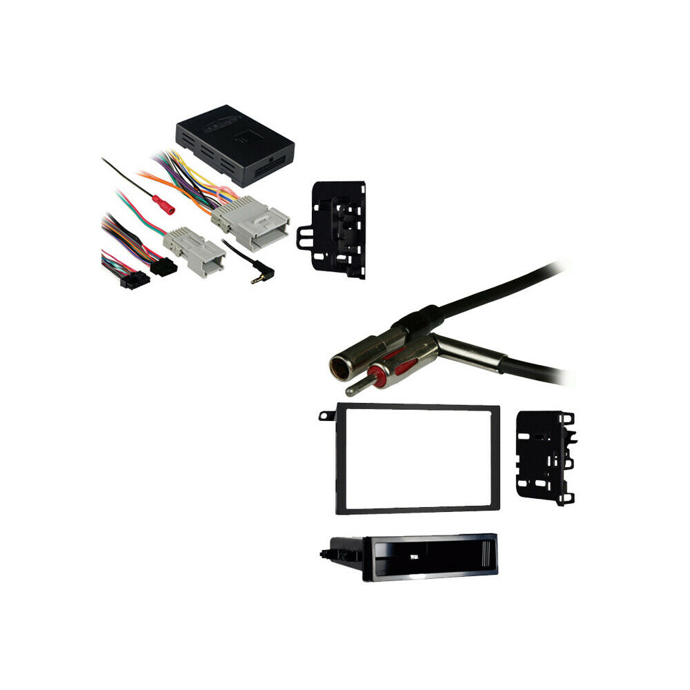 Fits chevy trailblazer double din stereo harness