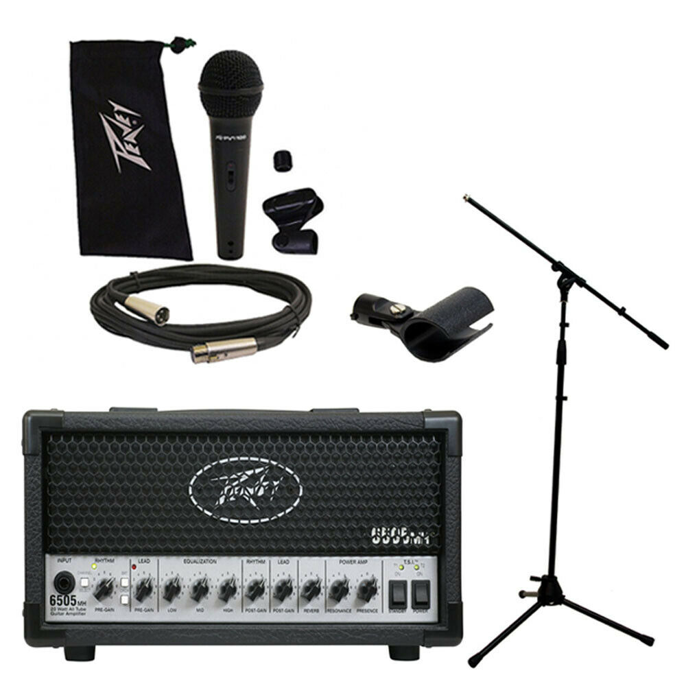 peavey 6505 mh mini head electric guitar 20w tube amp amplifier w mic stand ebay. Black Bedroom Furniture Sets. Home Design Ideas