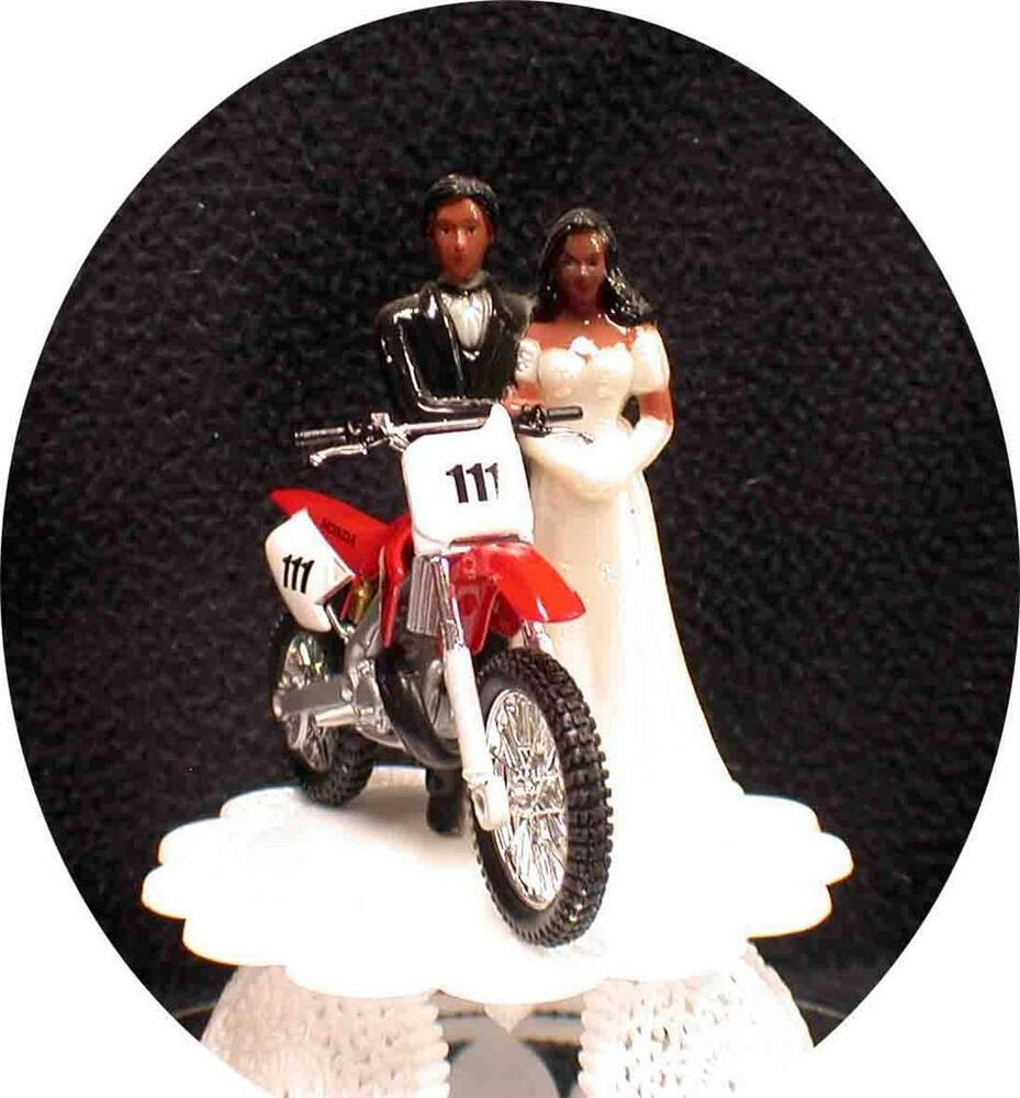funny motorbike wedding cake topper black american w honda bike motorcycle 14558