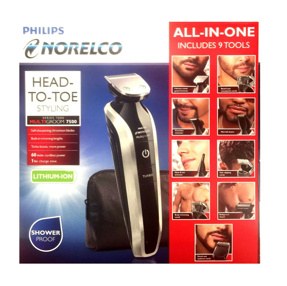 philips norelco multigroom full body beard eyebrow moustache trimmer hair shaver ebay. Black Bedroom Furniture Sets. Home Design Ideas