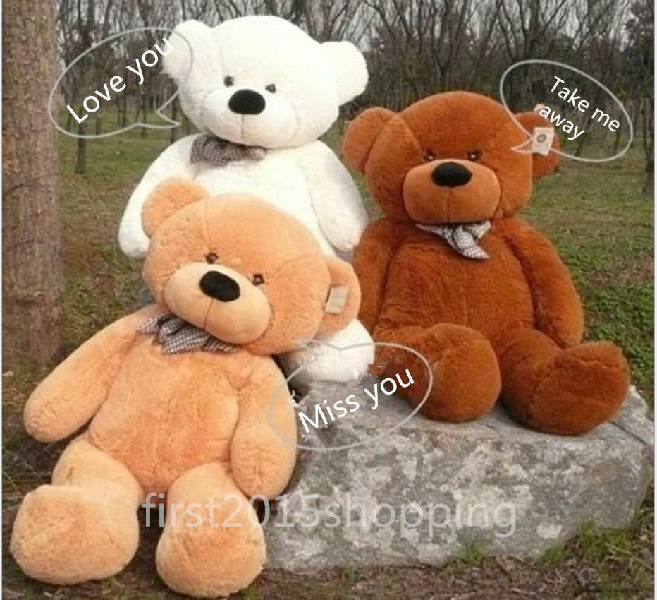 23922907332 Details about 60-300cm Big Teddy Bear Semi-Finished Plush Doll Cover  (Without Cotton) Gift New