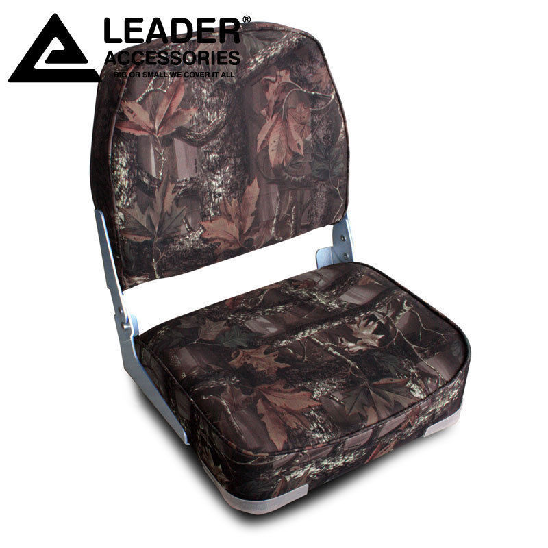 Leader Accessories New Camo Folding Marine Boat Seat 1