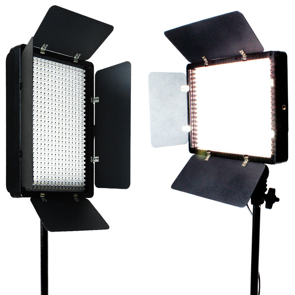 2 x 500 led light panel kit photography video studio. Black Bedroom Furniture Sets. Home Design Ideas