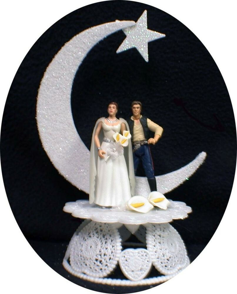Han Solo Princess Leia Wedding Cake Topper