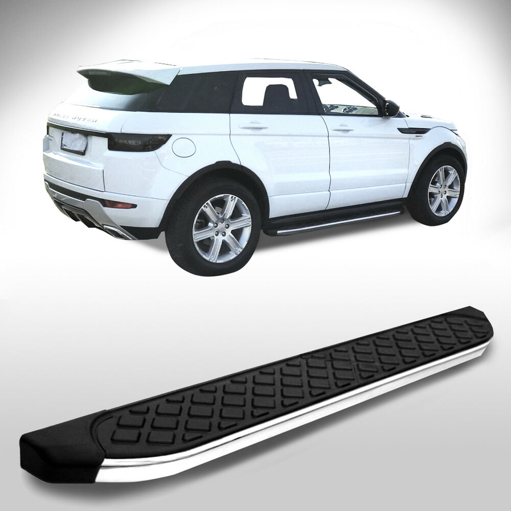 land rover evoque dynamic aluminium trittbretter trittleisten mit t v abe ebay. Black Bedroom Furniture Sets. Home Design Ideas