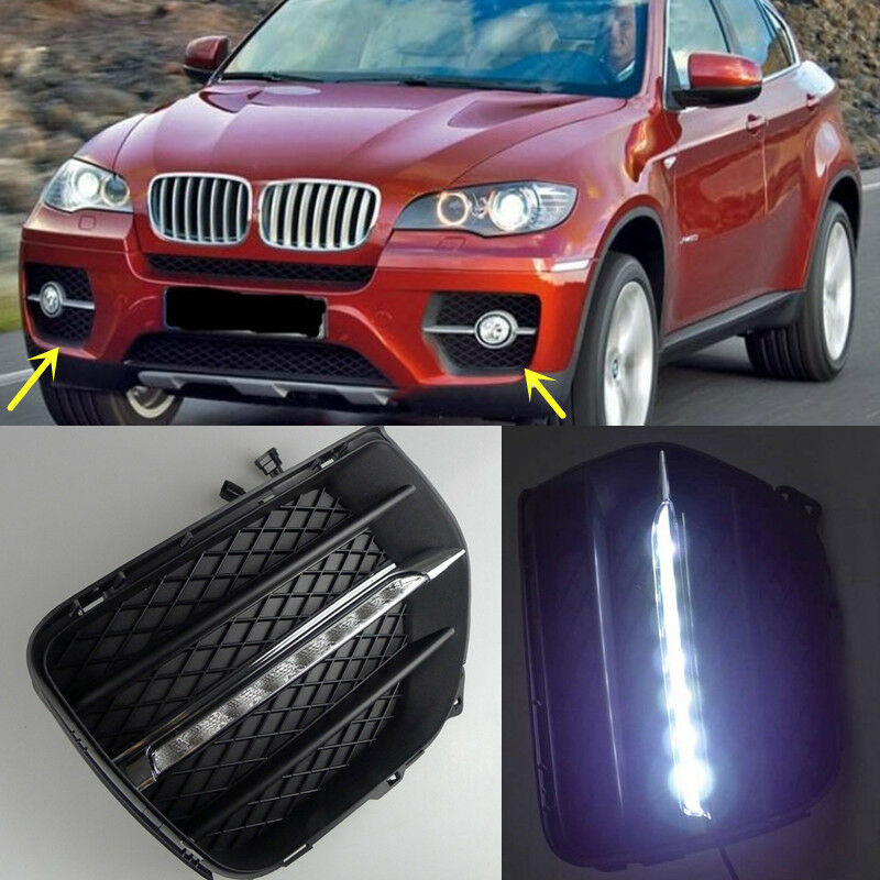 1 1 Replacement Led Daytime Running Lights Drl Led Fog Lamp For Bmw X6 2008 2013 Ebay