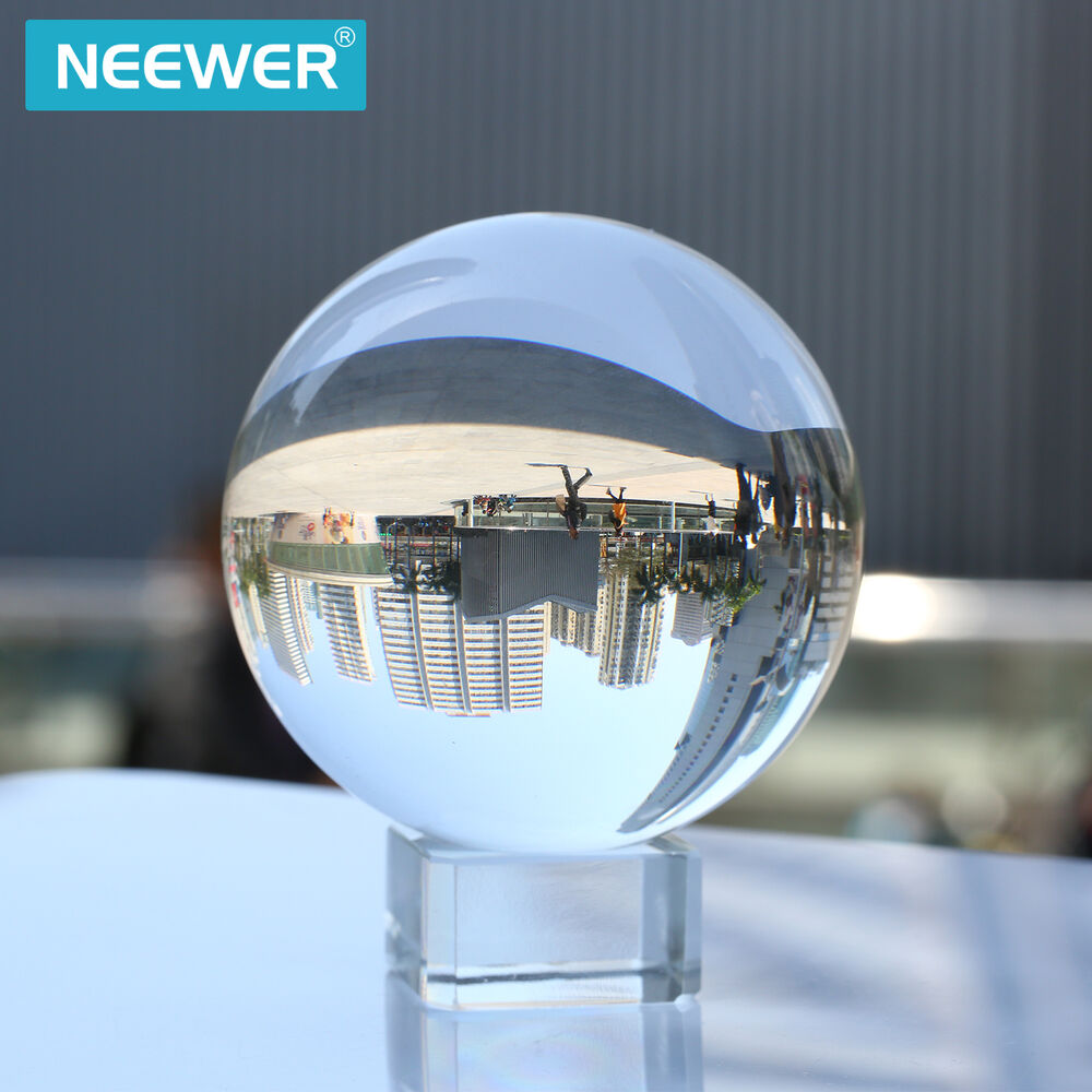 Neewer 80mm clear crystal ball globe with free crystal stand for divination deco ebay - Globe main office address ...