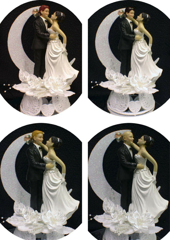 wedding cake toppers red hair groom brown hair wedding cake topper blond or 26587