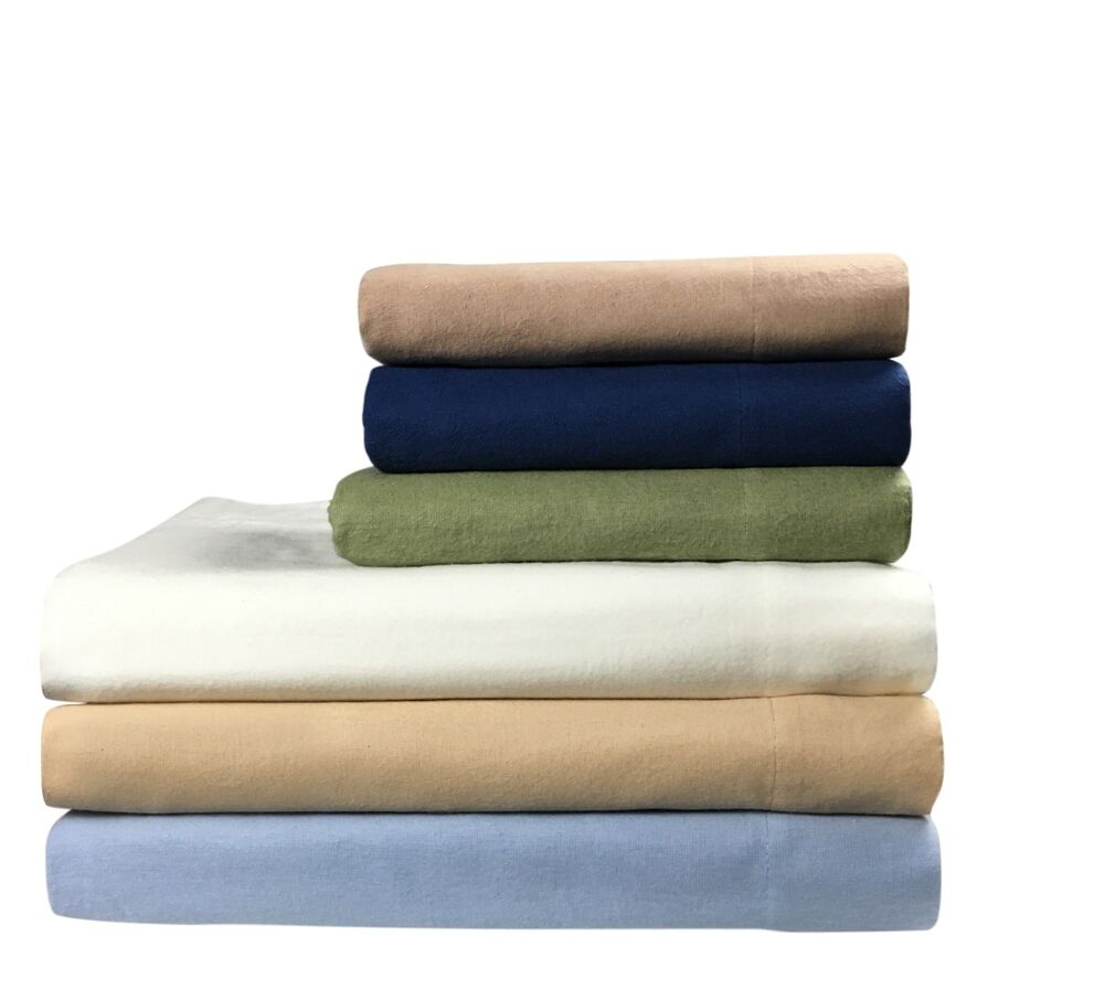 Queen FLANNEL FITTED SHEET, All Around Elastic,100% Cotton ...