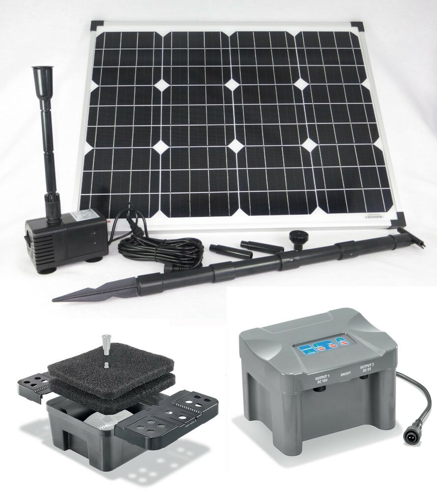 50w solarpumpe siena teichpumpe filter tauchpumpe solar. Black Bedroom Furniture Sets. Home Design Ideas