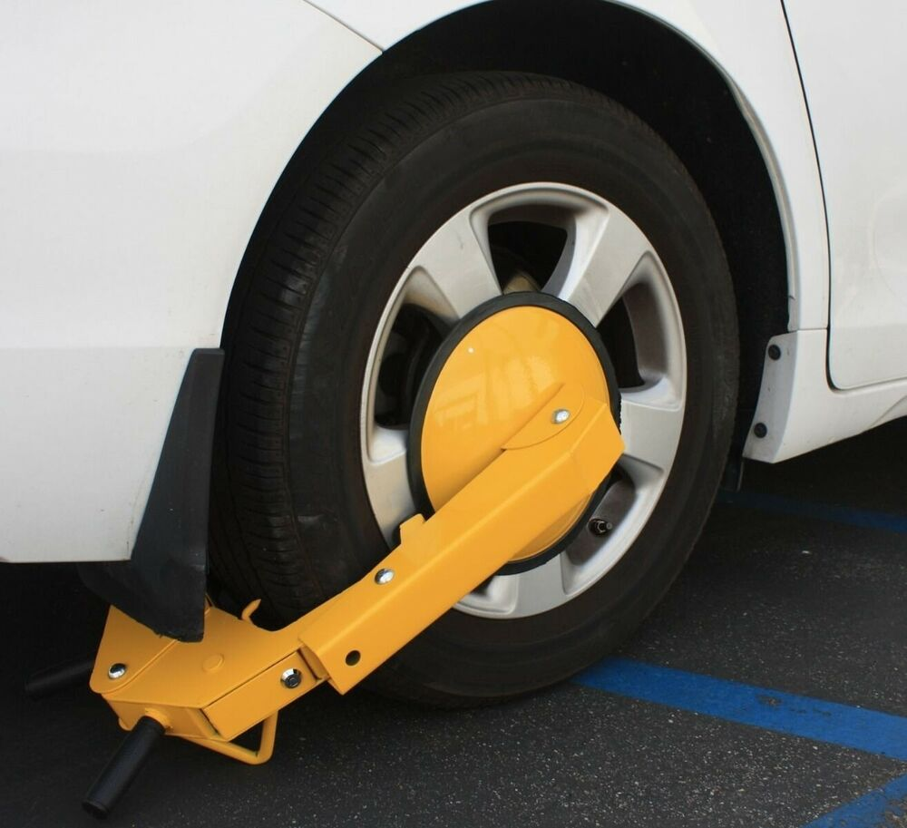 Car Theft Escape Parking: Anti Theft Wheel Lock Clamp Boot Tire Claw Parking Car